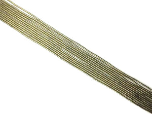 Coated Hematite Light Gold Tube 2X4Mm