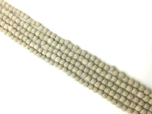 Lava Stone Gray Round Beads 18Mm