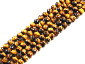 Tiger Eye Faceted Rounds 6Mm