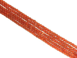 Artificial Opal Orangered Round Beads 8Mm
