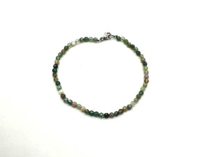 Fancy Jasper Faceted Rounds Bracelet 3Mm