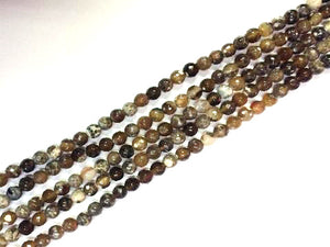Color Borwn Fire Agate Faceted Rounds 8Mm