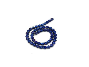 Hematite Coated Blue Buddha 8X8Mm