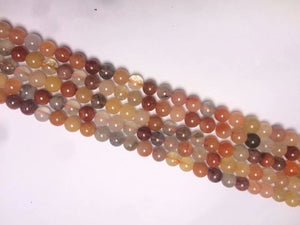 Yellow Jade Fect Roundell	4X6mm
