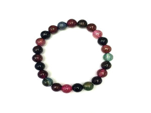 Color Agate Rainbow Bracelet 8Mm