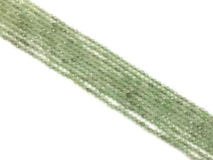 Aventurine Green Faceted Round Beads 4Mm