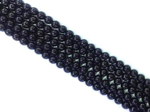 Black Tourmaline G2 Round Beads 4Mm