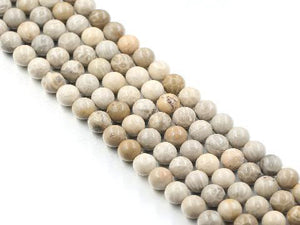 Matte Petoskey Jasper Round Beads 10Mm