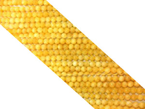 Calcite Yellow Round Beads 4Mm