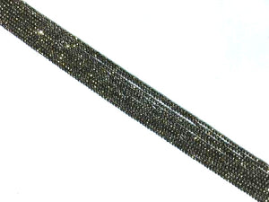 Pyrite Super Precision Cut Faceted Rounds 14 Inch 2Mm