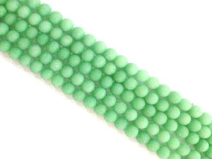 Matte Color Jade Green Round Beads 8Mm