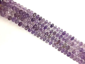 Amethyst Faceted Roundel 6X12Mm