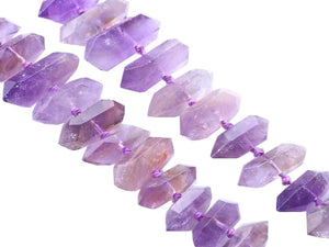 Amethyst Faceted Stick 8X19-12X48Mm
