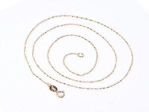 925 Sterling Silver Babysbreath Chain Gold Necklace 18 Inch 0.8M