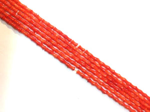 Bamboo Coral Orange Cube 4X8Mm