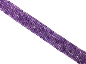 Color Jade Purple Faceted Roundel 2X4Mm