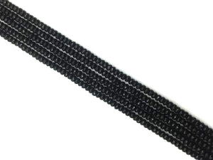 Black Onyx Faceted Tube 8X12Mm