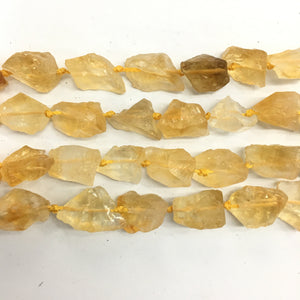 Special Finish Citrine Raw Nugget 12X18mm