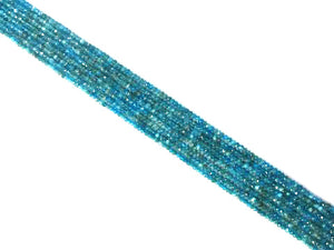 Apatite Blue Faceted Roundel 2X3Mm