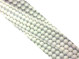 Color Jade White Round Beads 8Mm