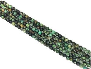 African Turquoise Faceted Round Beads 3Mm