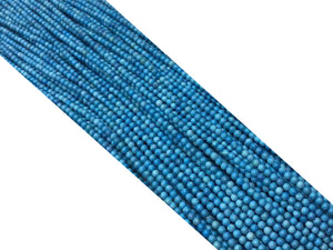 Magnesite Turquoise Faceted Round Beads 3mm