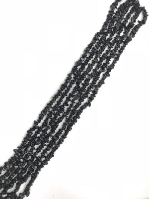 Black Tourmaline  36 Inch Chips 5X8Mm