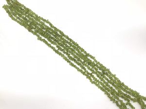 Peridot  36 Inch Chips 5X8Mm