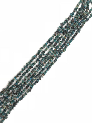 Chrysocolla  36 Inch Chips 5X8Mm