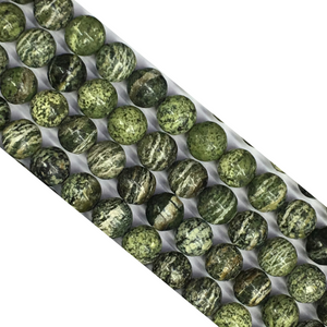Green Zebra Jasper Round Beads 4Mm