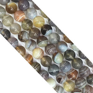 Botswana Agate Round Beads 14Mm