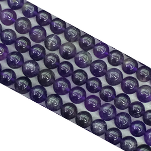 Amethyst G4 Dark Round Beads 8Mm
