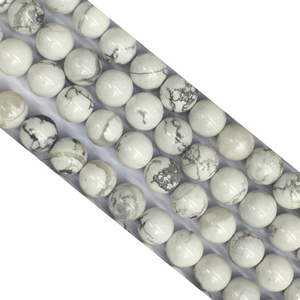 Howlite White Round Beads 8Mm