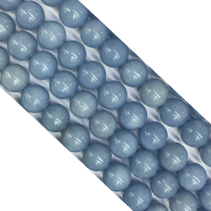 Blue Angel Stones Round Beads 8Mm
