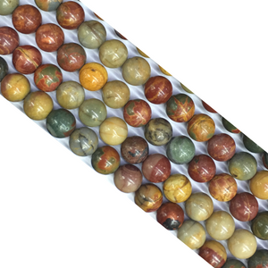 Red Creek Jasper Round Beads 8Mm