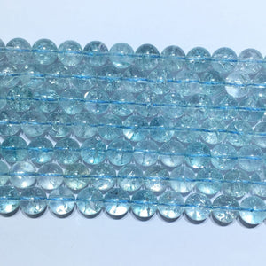 Blue Crystal round beads 14mm