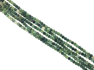 Matte Moss Agate Round Beads 8Mm