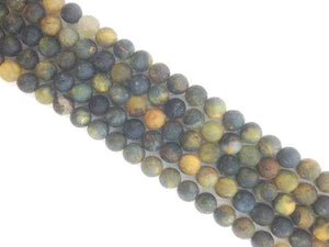 Matte Gold Pietersite Round Beads 8Mm