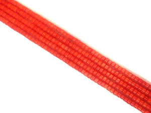 Bamboo Coral Orange Heishi 4X6Mm