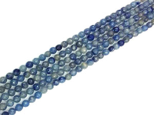Aventurine Blue Faceted Rounds 6Mm