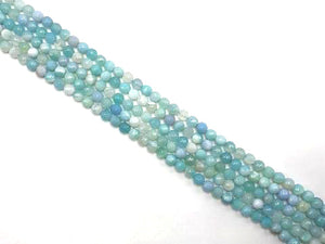 Color Sardonyx Skyblue Faceted Rounds 14Mm