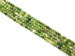 Color Sardonyx Apple Green Faceted Rounds 14Mm