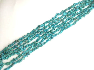 Synthetic Turquoise Chips 36 Inch