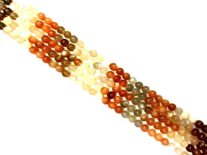 Rainbow Moonstone G1 Roune Beads 4Mm