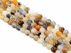 Flower Agate Round Beads 16Mm
