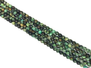 African Turquoise Faceted Round Beads 12Mm