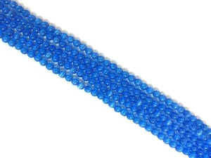 Artificial Opal Blue Round Beads 8Mm
