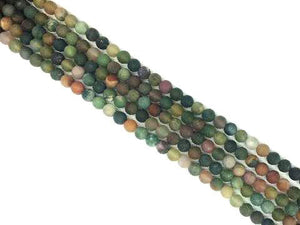Matte Fancy Jasper Round Beads 4Mm