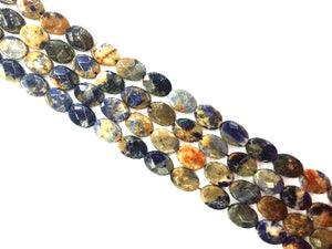 Red Line Sodalite Faceted Flat Oval 10X14Mm