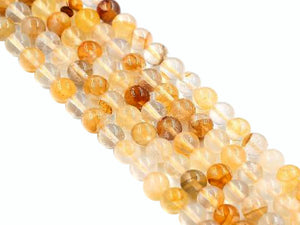 Natural Yellow Quartz Round Beads 18Mm